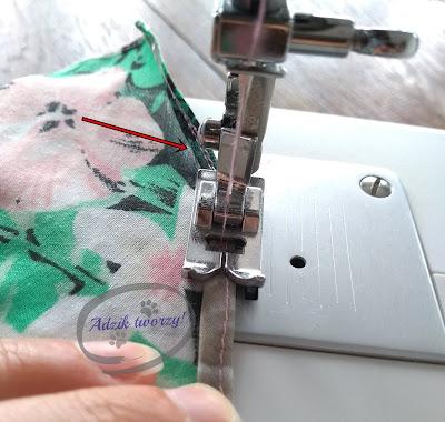 Adzik tworzy - jak uszyć sukienkę trapezową DIY