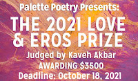 Palette Poetry Prize Love And Eros Prize 2021