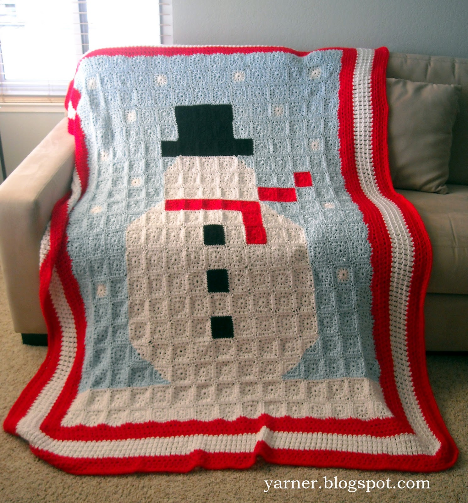 I'm a Yarner: Snowman Blanket