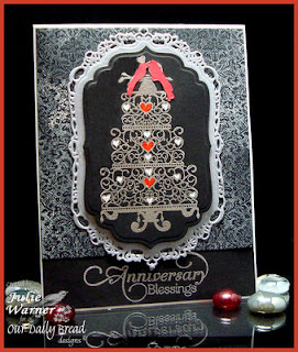 ODBD Products - Anniversary Blessings, Brocade Background, ODBD Custom Bird Cage and Banner Dies