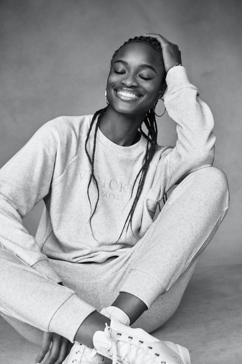 Mayowa Nicholas fronts Victoria's Secret Mother's Day 2021 campaign.