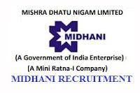 midhani recruitment, MIDHANI RECRUITMENT EXAMS, midhani recruitment through gate 2018, midhani recruitment 2018, midhani Hyderabad, midhani tenders