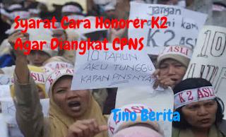 Syarat Cara Honorer K2 Diangkat CPNS