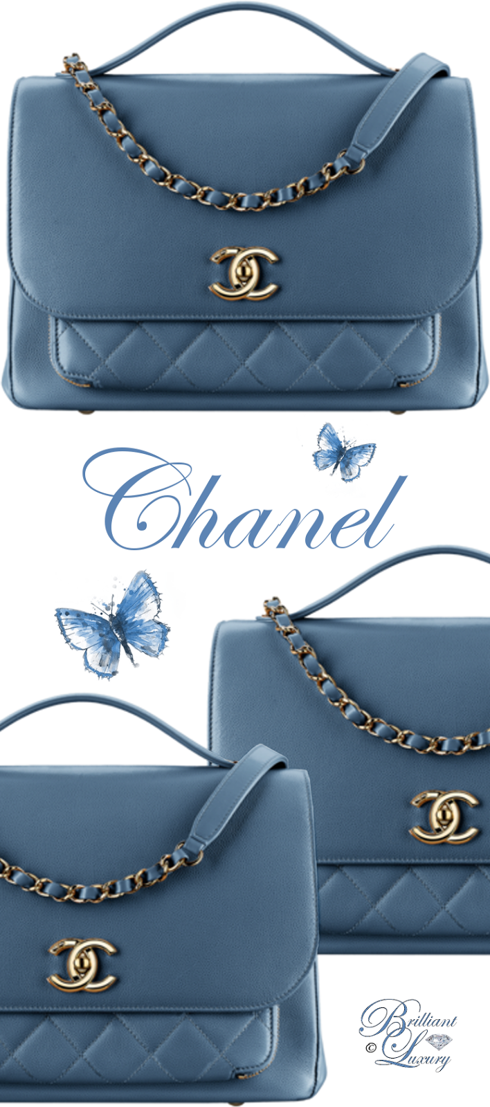 Brilliant Luxury ♦ Chanel Flap Bag With Top Handle