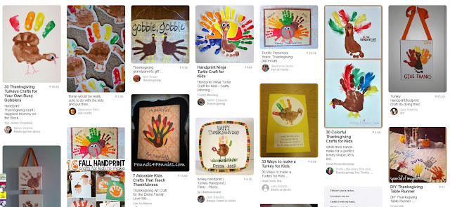 turkey hand print handprint craft