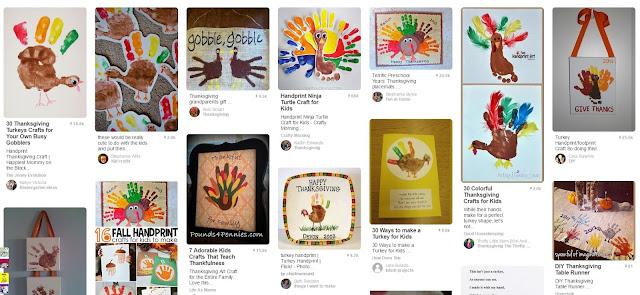 turkey hand print handprint craft
