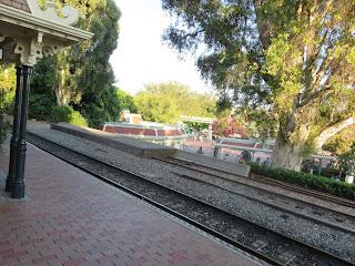 Main Street USA Train Tracks Disneyland Railroad