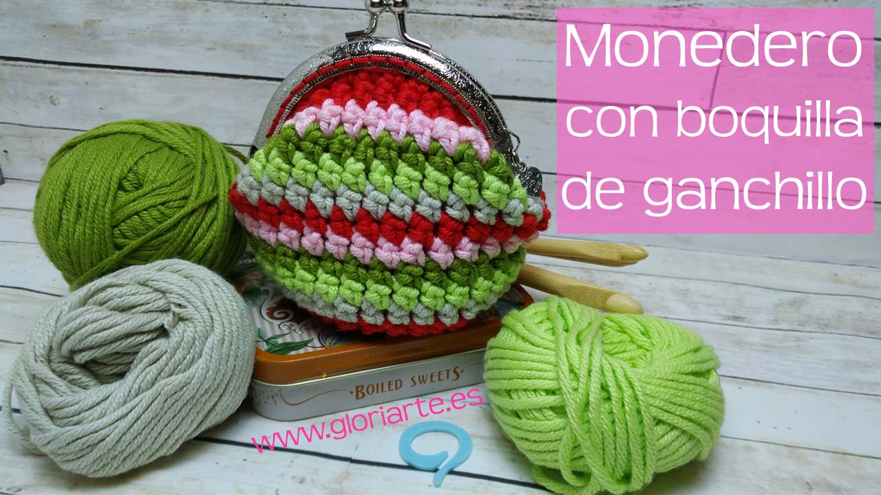 Monedero De Ganchillo Con Boquilla Punto Bajo Extendido Crochet - Monederos-ganchillo