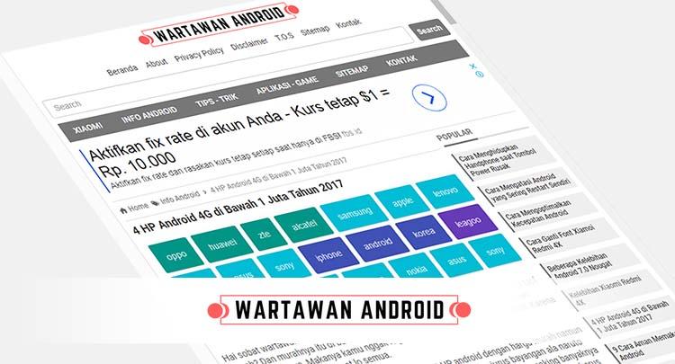 Wartawan Android, Informasi tentang Handphone Android