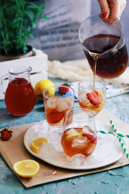 çilekli ice tea