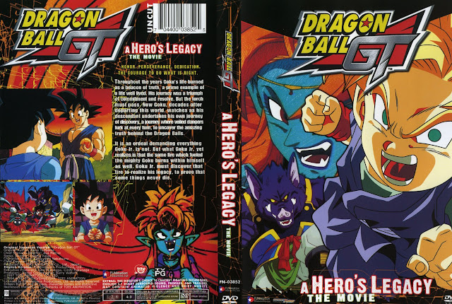 Capa DVD Dragon Ball GT A Heros Legacy The Movie