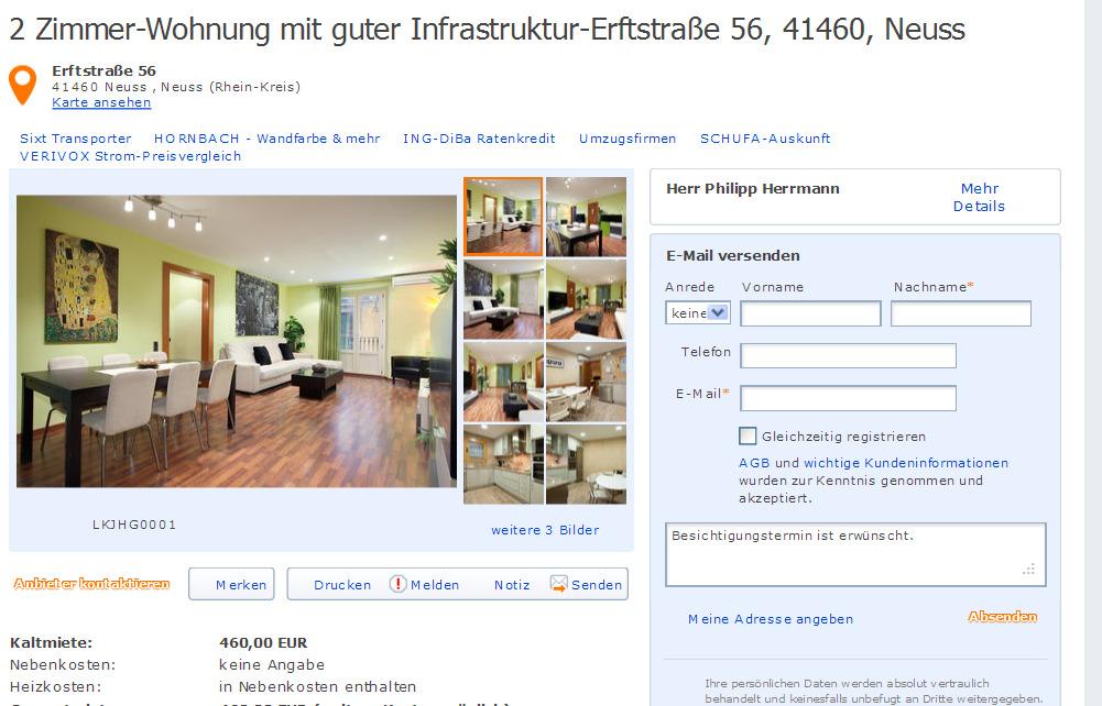 Badstrae 65 13357 Berlin  Gegen Wohnungsbetrug against