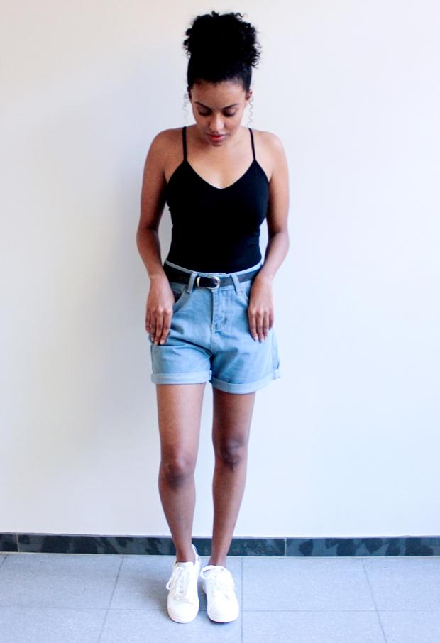 Como usar short jeans de cintura alta