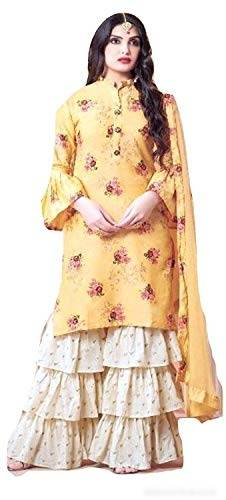 Printed Sharara Salwar Suit