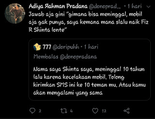 Bondo wani mli membalas tweet followernya