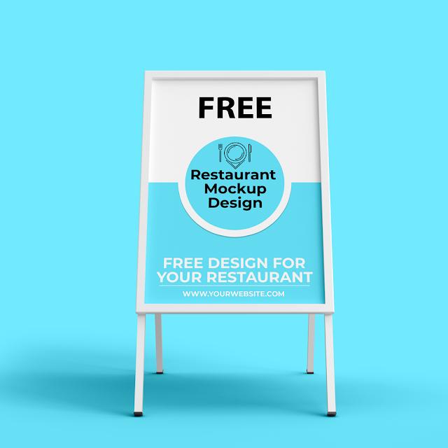 Restaurant Banner Mockup Design