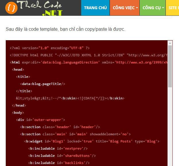 Tạo High Light code miêu tả đoạn code