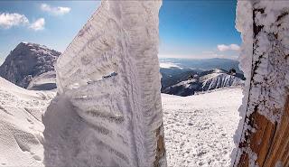 Widok ze szczytu Chopoka zimą