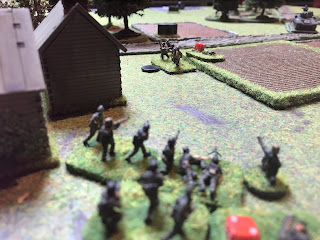 Soviets and Germans exchange fire at the village edge