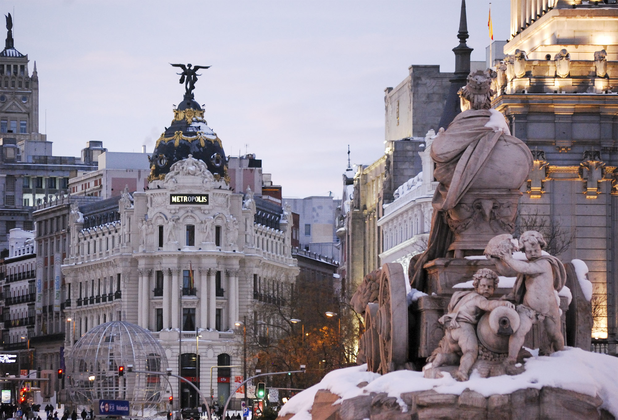 Snow in Madrid