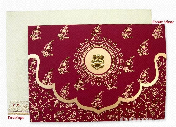 Indian wedding reception cards