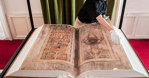 The Giant Manuscript of Codex Gigas or Devil Bible