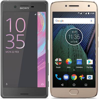 Sony Xperia X vs Motorola Moto G5 Plus