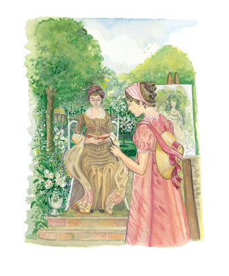 Emma Woodhouse paints a portrait  of Harriet by Jane Odiwe © CICO Books