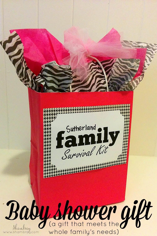shambray family survival kit baby shower gift. Black Bedroom Furniture Sets. Home Design Ideas