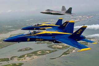 F-22 Raptor & F/A-18 Hornet Blue Angels
