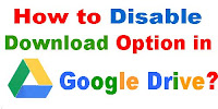 How to Disable Download Option in Google Drive?