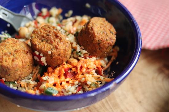 GRO Falafel & Tabbouleh Salad