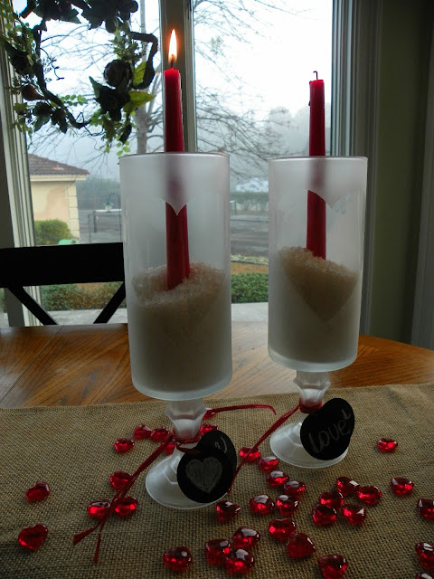Ramblings Of A Southern Girl Frugal Valentine Decorating