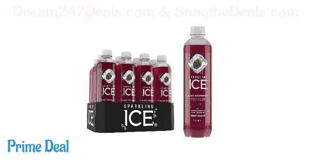 Sparkling Ice, Black Raspberry Sparkling Water, with antioxidants and vitamins, Zero Sugar, 17 FL OZ Bottles (Pack of 12)