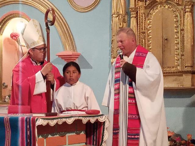 Dankesworte an Bischof Nicolás.