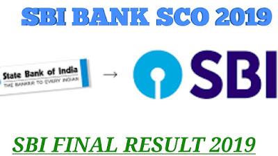 SBI BANK SCO FINAL RESULT 2019,See Sarkari Result