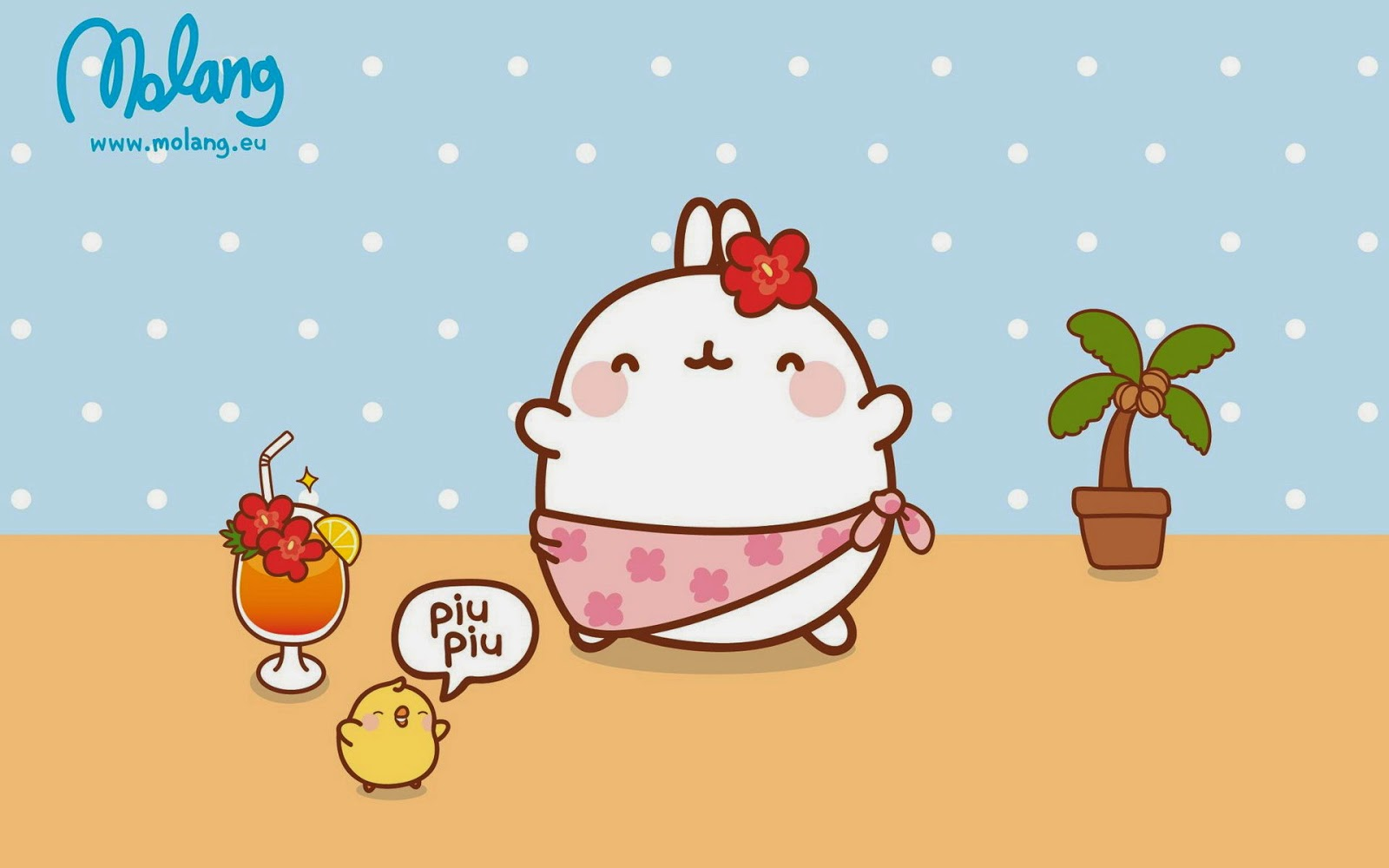 As Soon Molang Catches A Whiff Of This Fruit Its Cheeks Turn