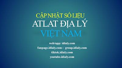 Cập nhật số liệu atlat địa lý Việt Nam