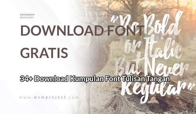 Download Kumpulan Font Tulisan Tangan