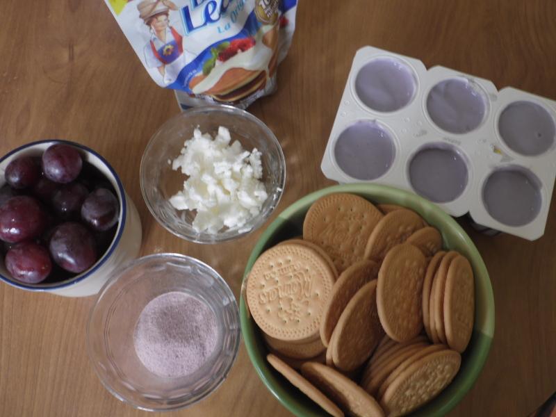 Tarta helada de uva