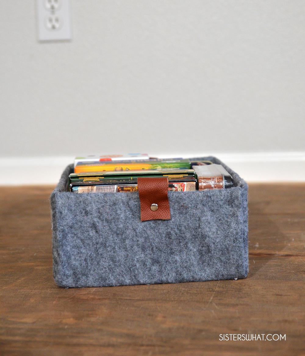 easy diy felt storage box