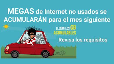 MEGAS de Internet no usados se ACUMULARÁN para el mes siguiente que empresas aplicarán