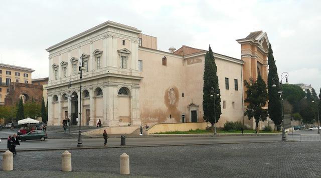Το μέρος, όπου βρίσκεται η Αγία Σκάλα στη Ρώμη.