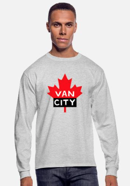 vancity vancouver bc canada long sleeve shirt men's