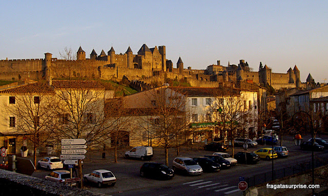 Cidade medieval de Carcassonne, França