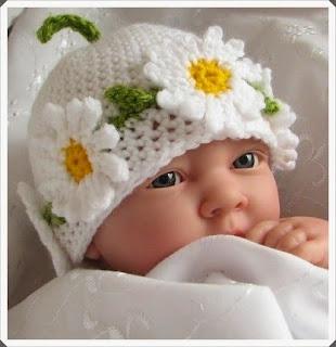 Tığ işi Örgü Bebek Bere Örnekleri 11