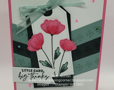 stampin' up, flowers of friendship, basic borders dies, tailor made tags dies
