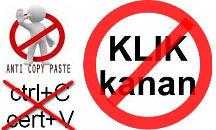 Cara Pasang Script Anti Copas Tulisan Artikel di Blog