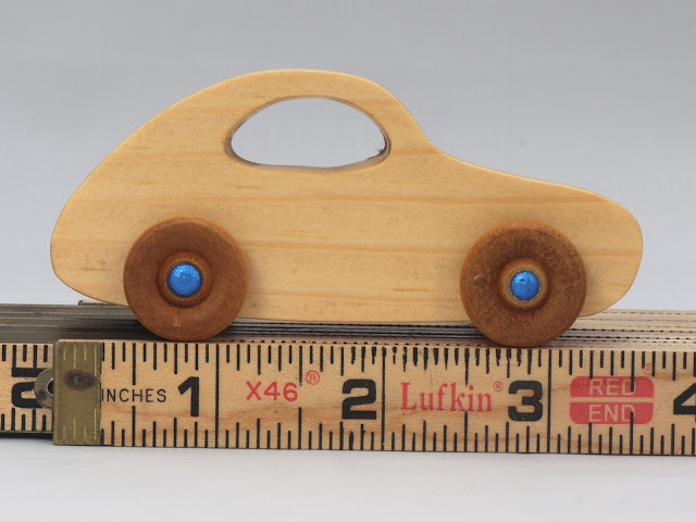 998759731 Handmade Wooden Toy Car Based On The VW Bug From The Play Pal Series