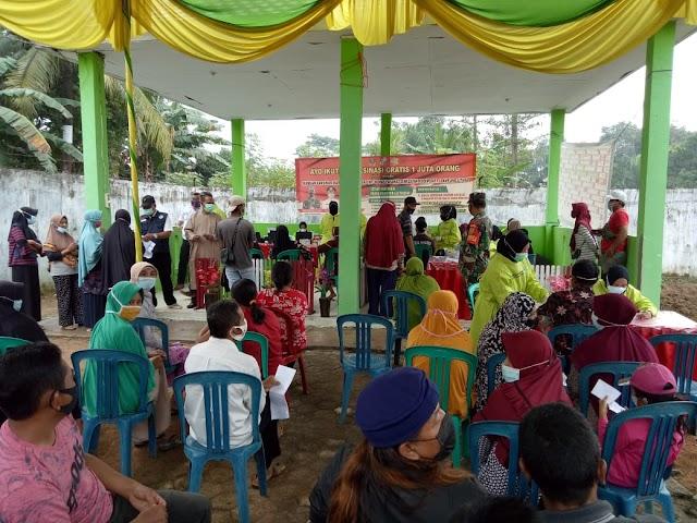 Kodim 0412 Lampung Utara Gelar Serbuan Vaksinasi Nasional Untuk warga Masyarakat di seluruh Wilayah Teritorial Lampung Utara